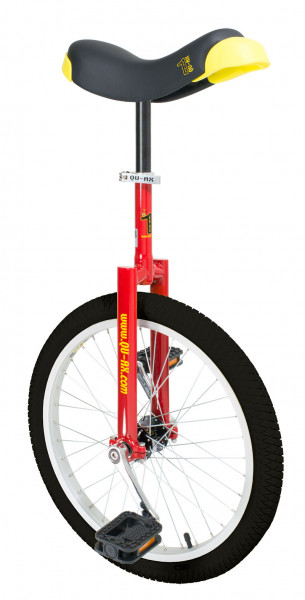 QU-AX Luxus Einrad 20 Zoll - die Stabilen - rot (schwarzer Pneu)