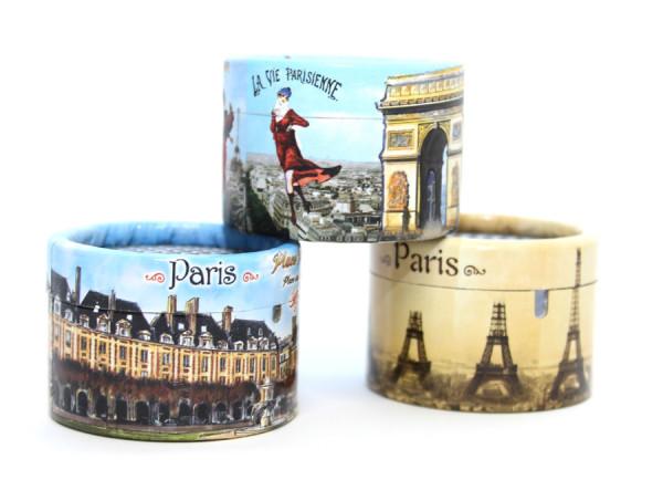 Papierdosen für Musikdosen - Sujet: Paris