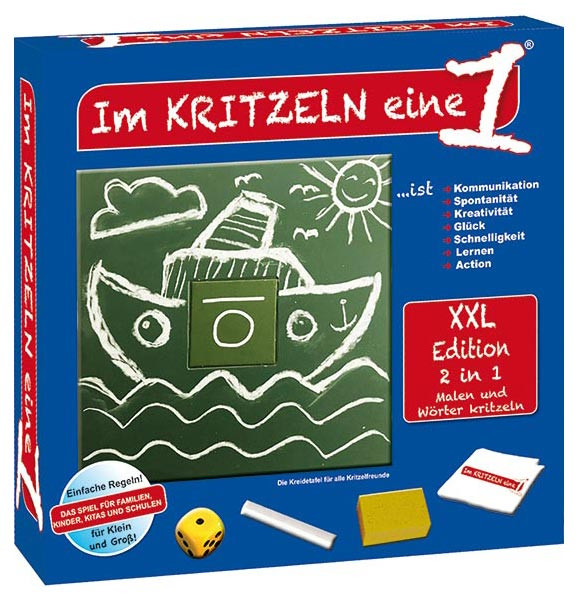 Im Kritzeln eine 1 XXL - Das kreative Spiel