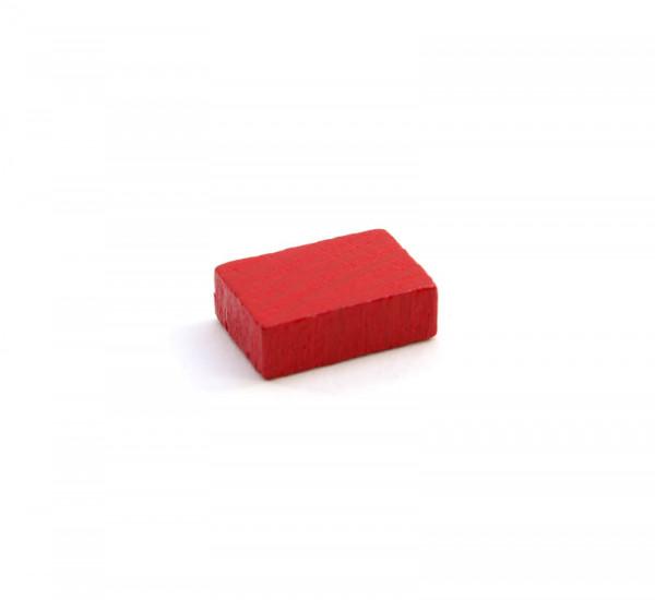 Spielstein Baustein aus Holz 15mm - Rot