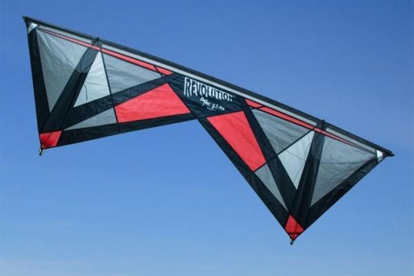 Revolution Kite Reflex RX Rot, 4 Leinen Profi-Lenkdrachen (Kite only)