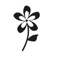 Ministempel Blume mit Stiel
