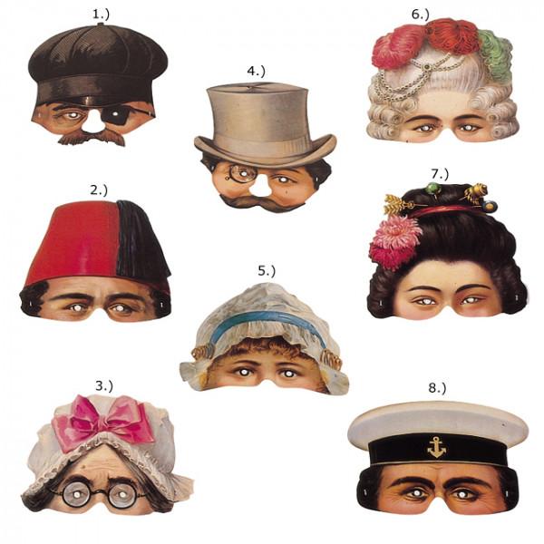 Karnevalsmaske aus Papier - Leksaks - Preis für 1Stk