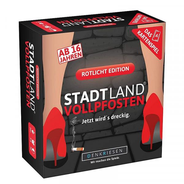 Stadt Land Vollpfosten - Rotlicht Edition - Kartenspiel