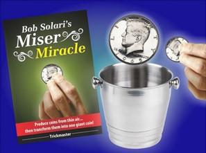 Kleine Münzen werden in eine riesen Münze verwandelt - Solaris Miser Miracle