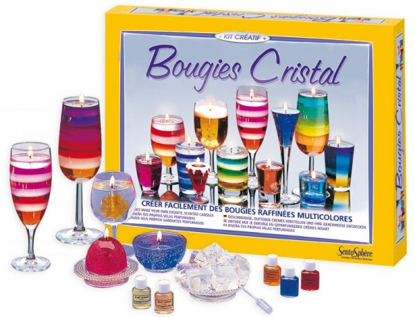 Kristallkerzen Set - Bougies Cristal - Kerzen herstellen