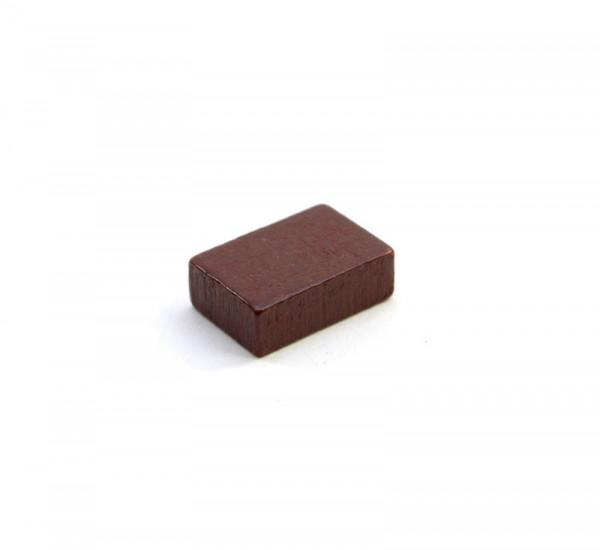 Spielstein Baustein aus Holz 15mm - Braun