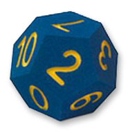 12 flächiger Schaumstoff Würfel 20cm - blau