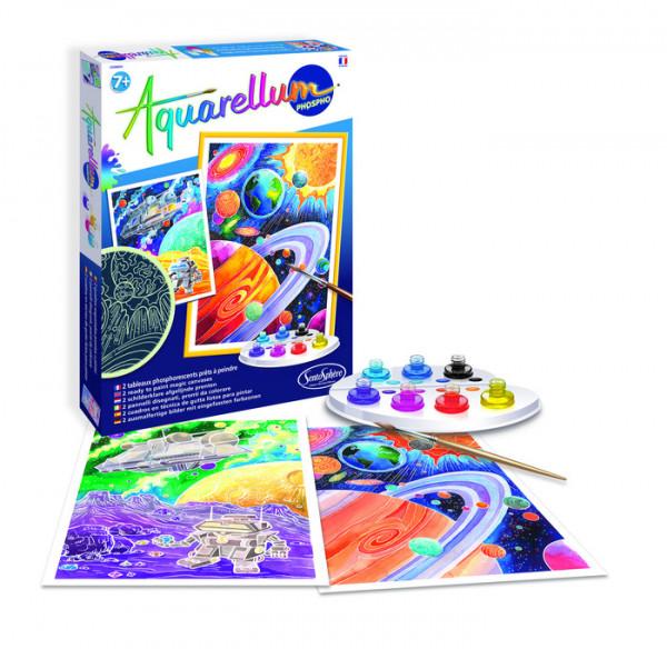 Aquarellum Weltall - Set mit 2 Bildern