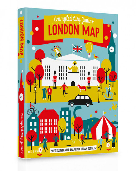 Crumpled City Junior - London Map