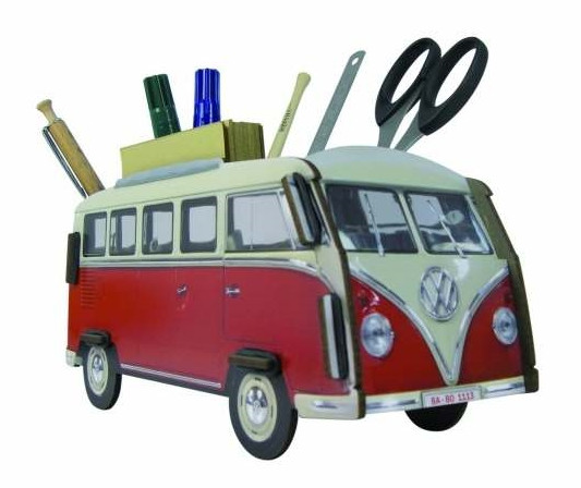 Stiftebox VW-Bus Classic rot