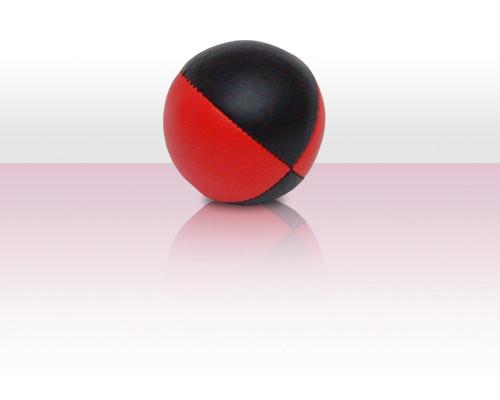 Jonglierball Beanbag Kunstleder - rot mit schwarz