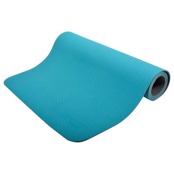 Yogamatte 4mm - BiColor - Petrol-Grey