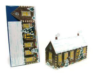 3D Faltkarte - Haus mit spielenden Kinder