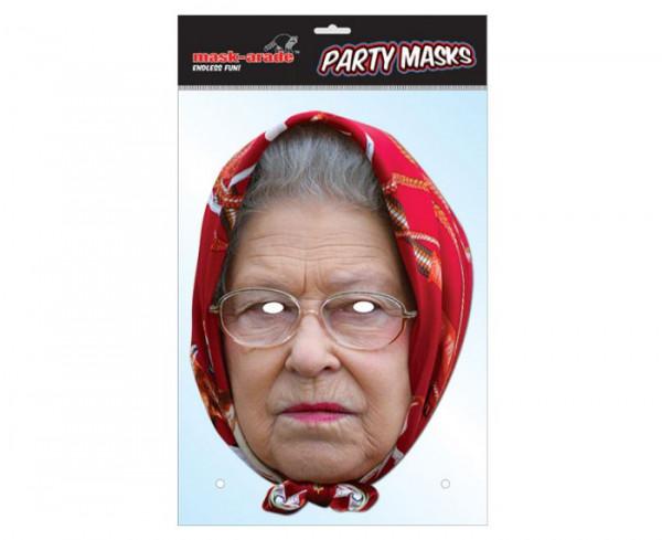 The Queen mit Kopftuch Maske
