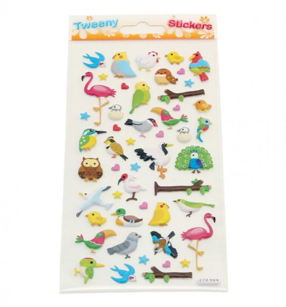 3D Stickers - Vögel