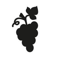 Ministempel Weintrauben