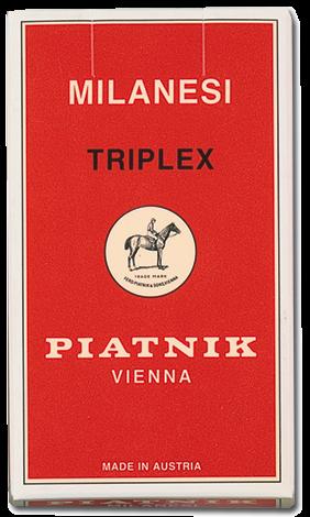 Milanesi Triplex Spielkarten - Italienische Spielkarten