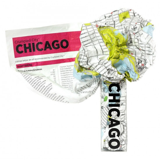 Crumpled City Map - Chicago