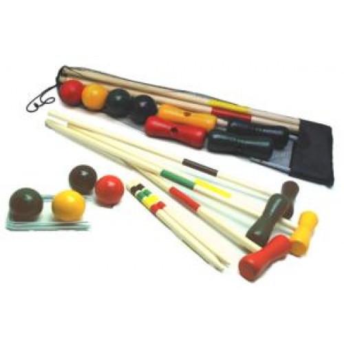 Croquet Spiel für 4 Spieler