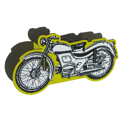 Stiftebox Motorrad - gelb