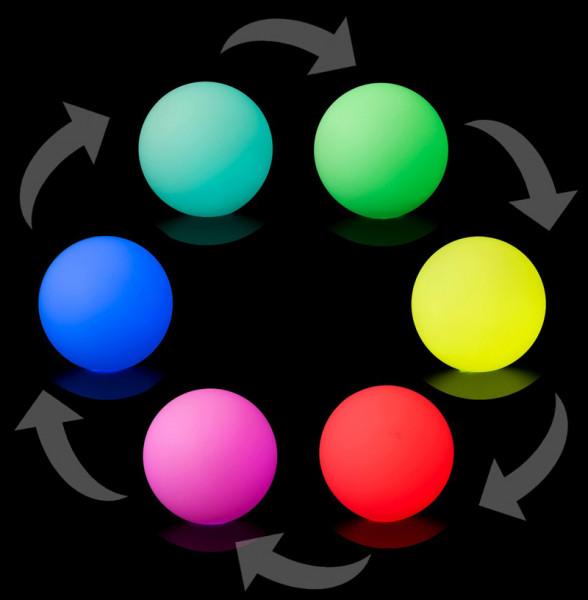 Grosser LED Jonglierball - 90 mm - Farbwechsel Fade