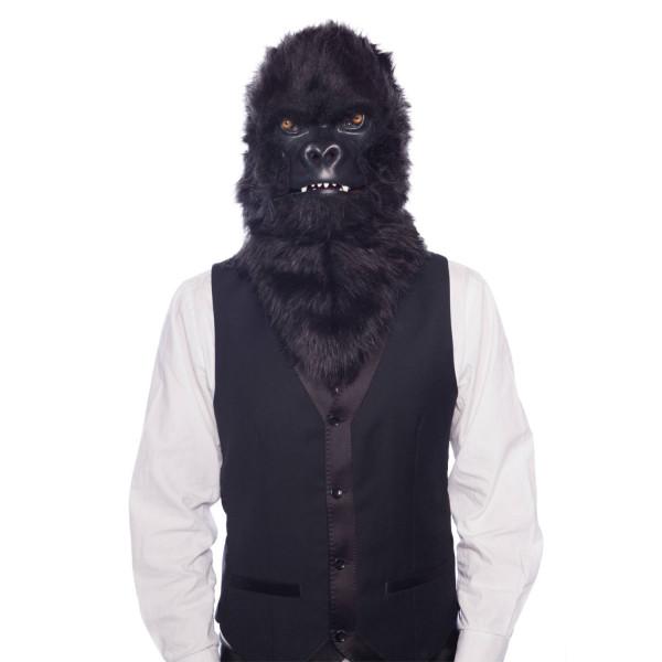 Gorillamaske mit beweglichem Mund