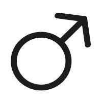 Ministempel Das Gender-Symbol - männlich