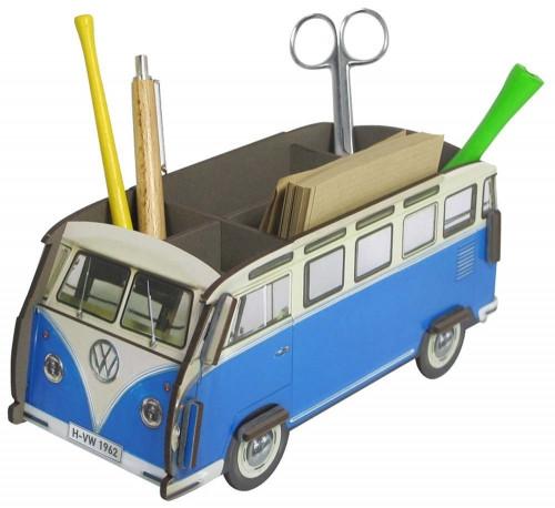 Aufbewahrungs Box für den Schreibtisch - VW Bus blau