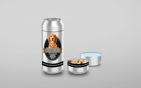 Doggy Brew - Futternapf Bierdose