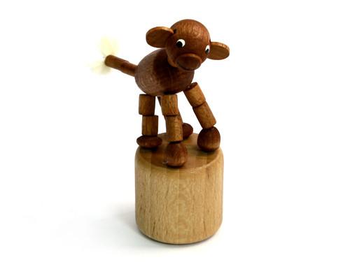 Wackeltier Affe - aus Holz