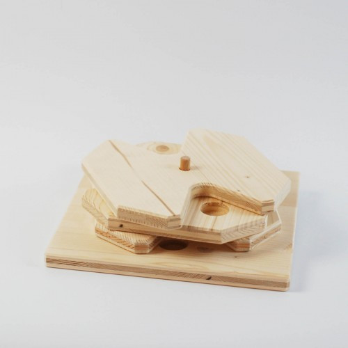 Hundespiel aus Holz - Drehspiel