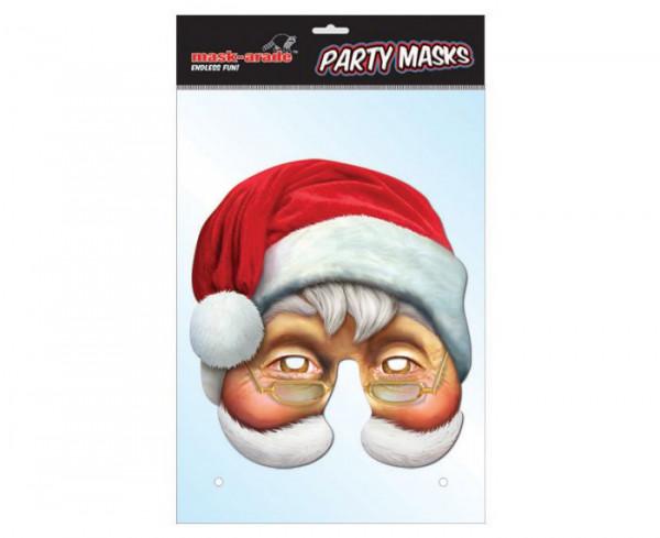 Santa Claus Maske aus Karton