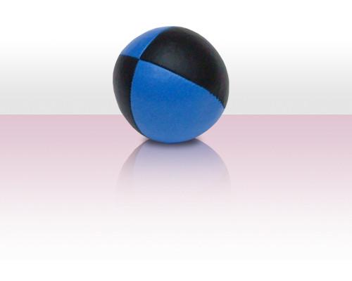 Jonglierball Beanbag Kunstleder - blau mit schwarz