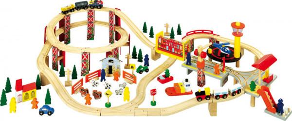 Holz Eisenbahnset Industriepark
