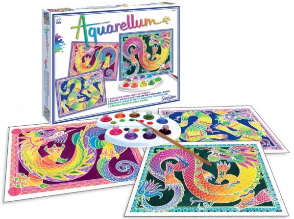 Aquarellum Junior Drachen-Set mit 4 Bildern