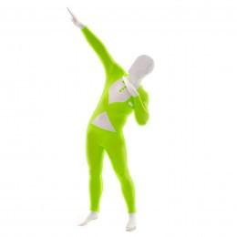 Ganzkörperkostüm Morphsuits - Tuxedo green glow (XL)