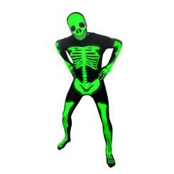 Ganzkörperkostüm Morphsuits - Skeleton Glow (XL)