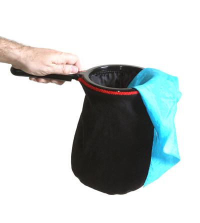 Changierbeutel - schwarz