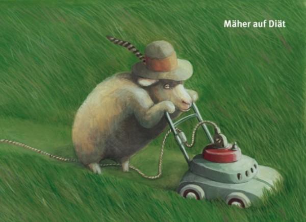 Rasenmaher Postkarte Peter Gut Postkarten Von Peter Gut