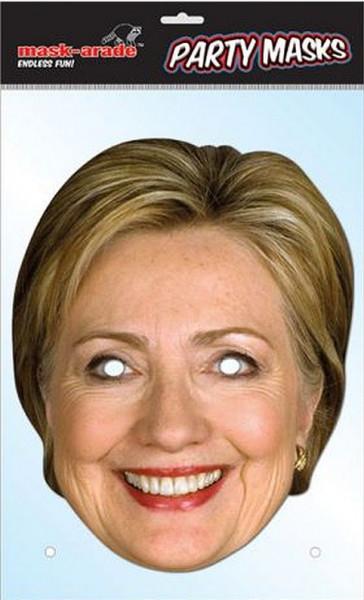 Hillary Clinton Foto-Karton Maske
