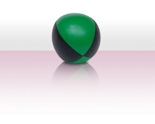 Jonglierball Beanbag Kunstleder - grün mit schwarz