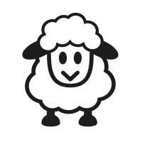 Ministempel Schaf aus der Serie 4