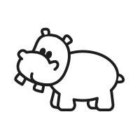 Ministempel Nilpferd