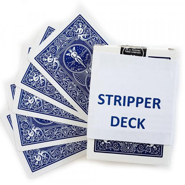 Stripper Deck Zauberkarten - Bicycle blaue Rückseite