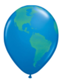 Globus Luftballon 43cm - Set mit 50Stk
