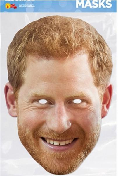 Prince Harry mit Bart - Maske