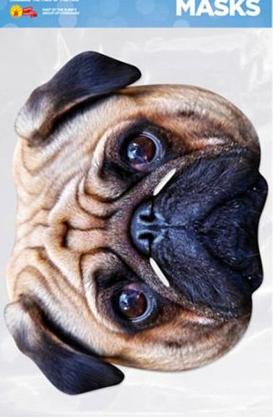 Mops - Hundemaske aus Karton