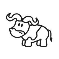 Ministempel Büffel