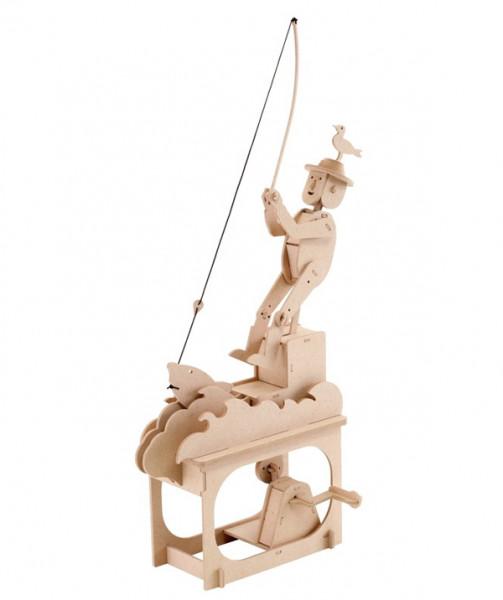 Holzbausatz bewegliches Modell - Good Fishing